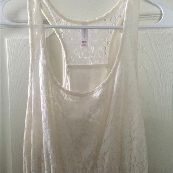 Xhilaration Dresses & Skirts - Sweet Dress , high low White lace.  size m.